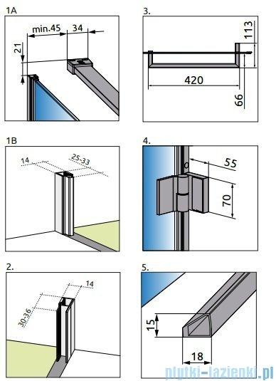 Radaway Carena Kdj Kabina kwadratowa 90x90 lewa szkło przejrzyste + Brodzik DELOS C 90 + syfon 34402-01-01NL