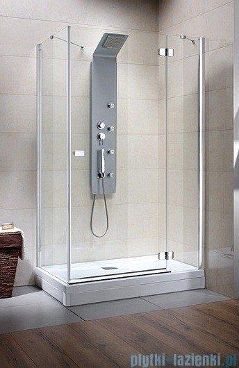 Radaway Kabina prysznicowa Fuenta KDJ 90x80 prawa szkło brązowe 381049-08R