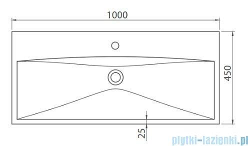 Cerastyle Elite umywalka 100x45cm meblowa / ścienna 032400-u