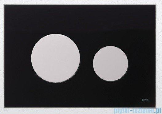 Tece Przycisk spłukujący ze szkła do WC Teceloop szkło czarne przyciski białe 9.240.654