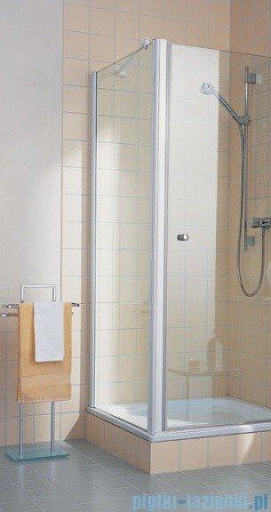 Kermi Atea Ściana boczna, szkło przezroczyste z KermiClean, profile białe 120x185cm ATTWD120182PK