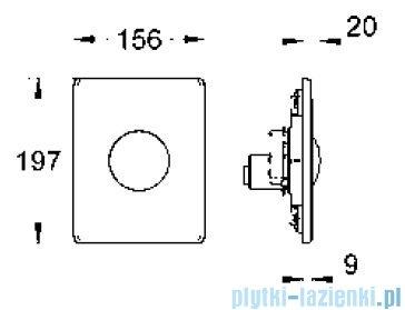 Grohe Skate przycisk uruchamiający ze stali szlachetnej   38672SD0
