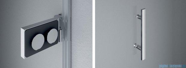 SanSwiss PUR PU31P drzwi lewe 90x200cm cieniowane czarne PU31PG0901055