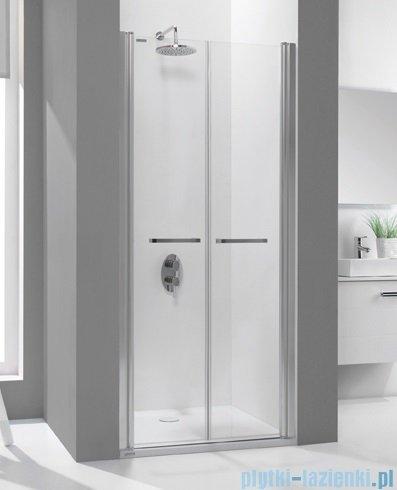 Sanplast drzwi skrzydłowe wahadłowe DD/PRIII 110x195 cm przejrzyste 600-073-0950-38-401