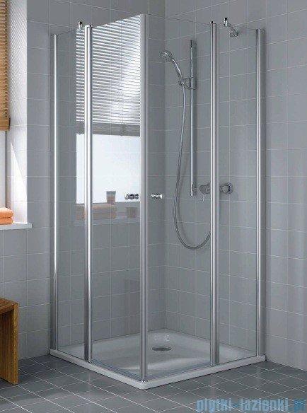 Kermi Atea Drzwi wahadłowe z polem stałym, prawe, szkło przezroczyste, profile białe 80cm ATESR080182AK