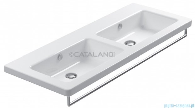 Catalano New Light umywalka wisząca podwójna 125x48 biała 1125LI00