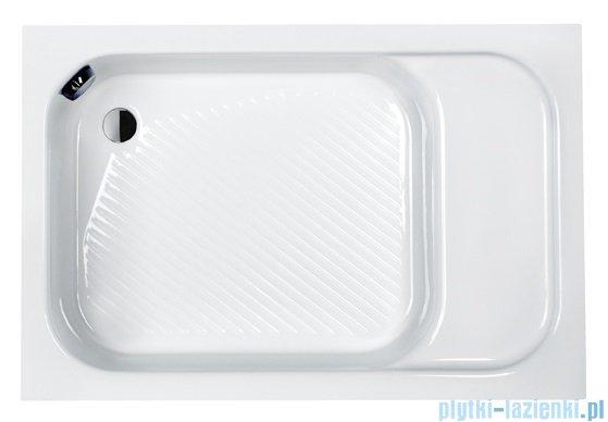 Sanplast Brodzik prostokątny Classic 110x80x28cm z siedziskiem + stelaż 615-010-0530-01-000
