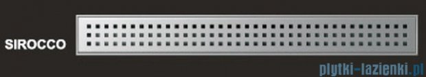 Wiper Odpływ liniowy Premium Sirocco 110cm z kołnierzem poler S1100PPS100