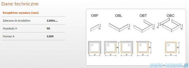 Sanplast Obudowa frontowa do brodzika OBF 120x9 cm 625-400-0350-01-000