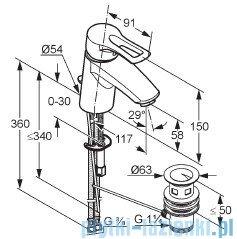 Kludi Mx Bateria umywalkowa chrom 331250562