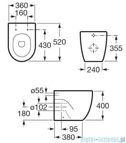 Roca Meridian-N Compacto Miska Wc stojąca biała A347247000