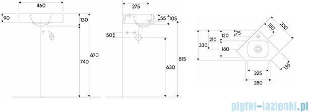 Keramag Icon Xs Umywalka narożna 33cm z otworem bez przelewu 124729