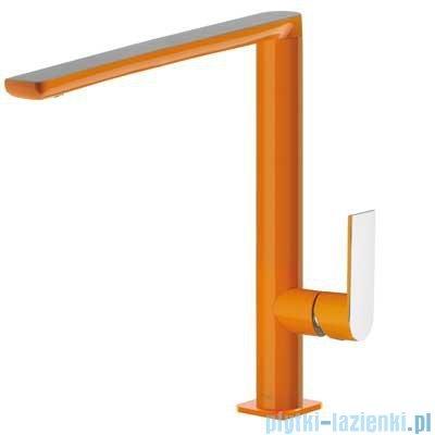 Tres Loft Colors Bateria umywalkowa z korkiem automatycznym kolor pomarańczowy 200.205.03.NA.D