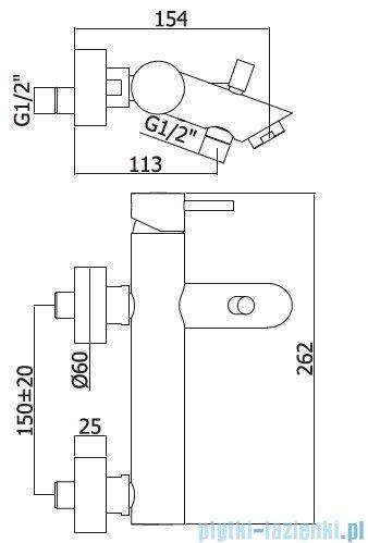 Paffoni  Light bateria wannowa chrom LIG022