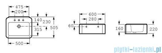 Roca Element Umywalka 60x50,5cm ścienna biała A327570000