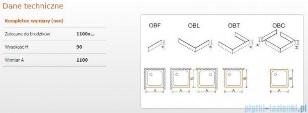 Sanplast Obudowa frontowa do brodzika OBF 110x9 cm 625-400-0340-01-000