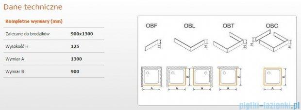 Sanplast Obudowa brodzika OBL 90x130x12,5 cm 625-401-1560-01-000
