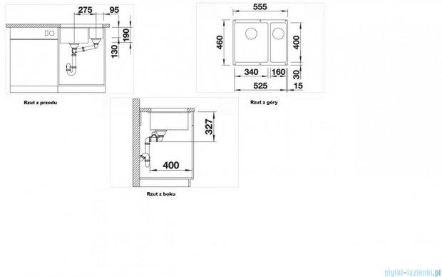 Blanco Subline 340/160-U zlewozmywak Silgranit PuraDur  kolor: alumetalik  z k. aut. 513789