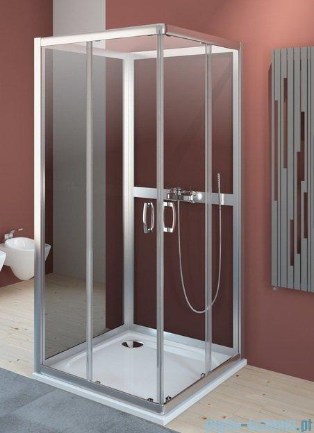 Radaway Premium Plus C+2S kabina czterościenna kwadratowa 80x80 szkło przejrzyste/fabric 30463-01-01N/33443-01-06N