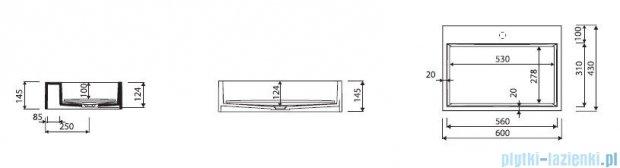 Marmorin umywalka nablatowa Modico bez otworu 60cm biała 350060020010