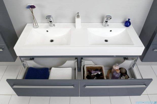 Antado Variete szafka z umywalką, wisząca 140 szary połysk FM-442/7-K917 + FM-442/7-K917 + UNAM-1404D