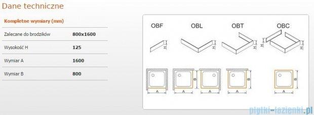 Sanplast Obudowa brodzika OBL 80x160x12,5 cm 625-401-1390-01-000