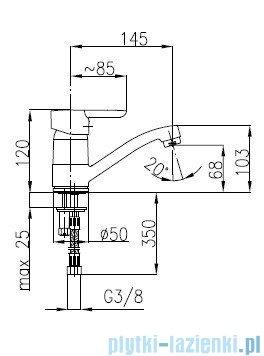 KFA BAZALT Bateria umywalkowa stojąca 4702-915-00