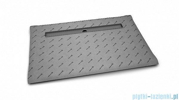 Radaway brodzik podpłytkowy z odpływem liniowym Steel na dłuższym boku 169x89cm 5DLA1709A,5R115S,5SL1
