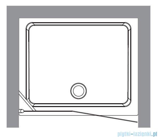 Kerasan Drzwi prysznicowe prawe, szkło piaskowane profile brązowe 92x180 Retro 9139S3