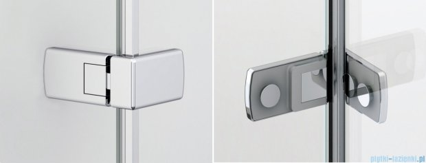 Sanswiss Melia MEF Kabina Walk-In z uchwytami i profilem lewa do 140cm przejrzyste MEFAGSM21007