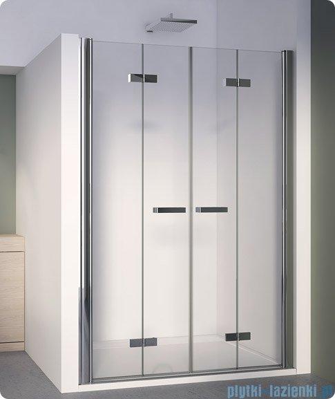 SanSwiss Swing Line F SLF2 Drzwi składane 120cm profil biały SLF212000407