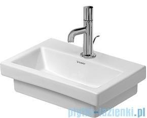 Duravit 2nd floor umywalka mała bez przelewu z otworem na baterię 400x300 mm 079040 00 00