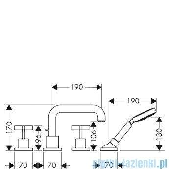 Hansgrohe Axor Citterio Element zewnętrzny do baterii 4-otworowej 39445000