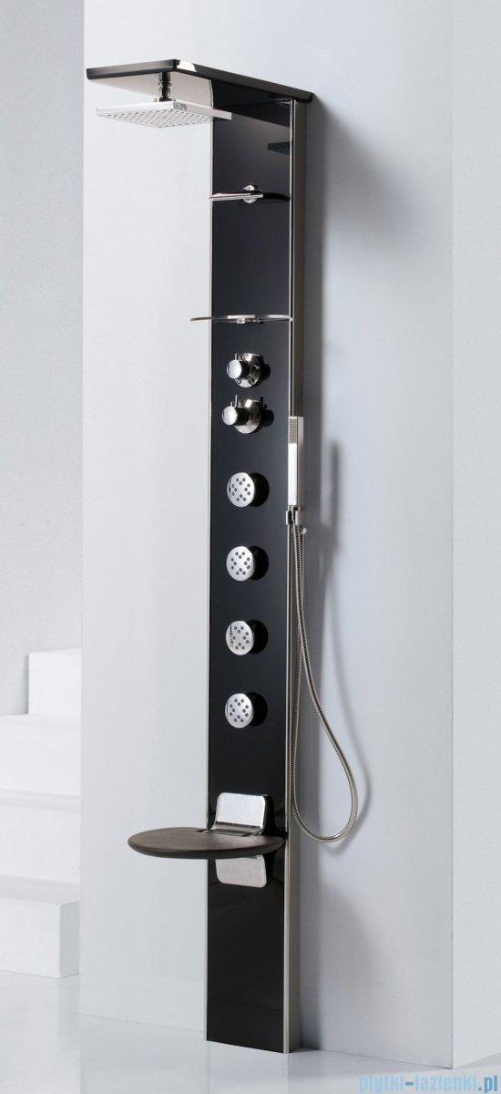 Novellini Aqua 1 Cascata 3 panel prysznicowy biały bateria termostatyczna CASC3VT-A