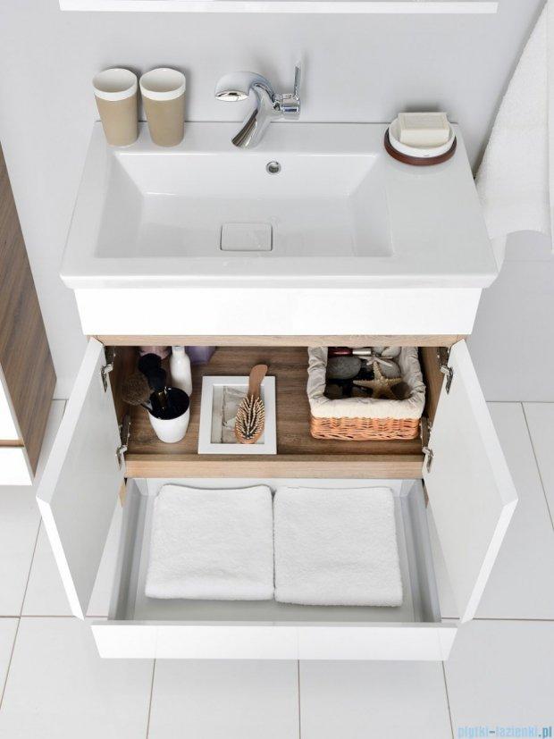 Antado Gabi szafka z umywalką 68x40cm dąb tabak+biały GBY-140/70-3216/WS+UCS-IS-70