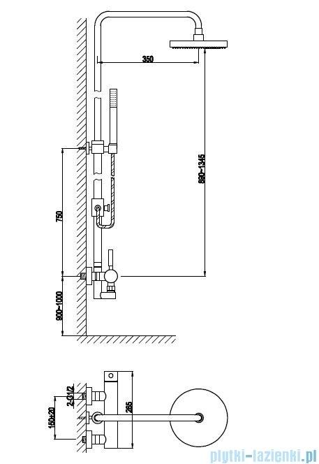 Kohlman Roxin zestaw prysznicowy QW276R