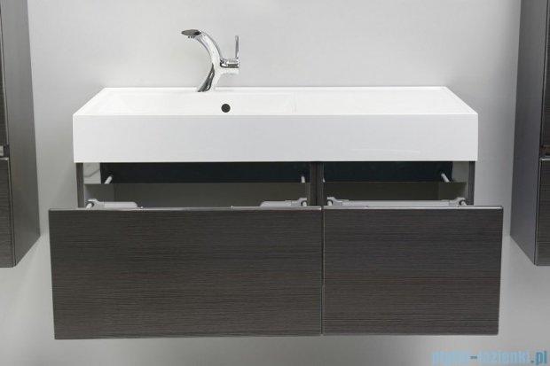 Antado Cantare szafka z umywalką lewą 100x50x33 grafit (fino) FSM-342/6GT-46/46+FSM-342/4GT-46/46+UNAM-1004L