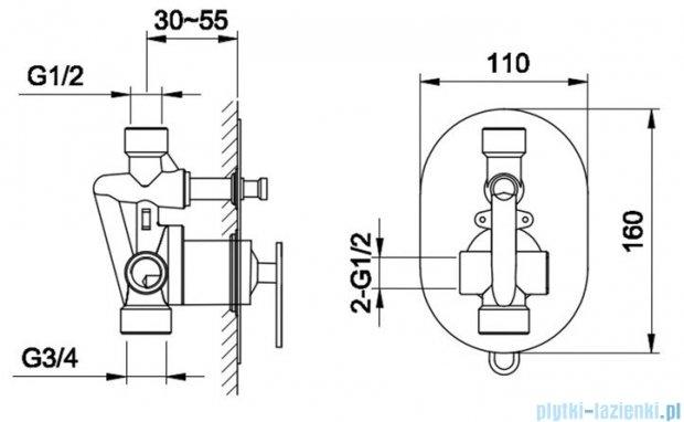 Kohlman Boxine zestaw prysznicowy chrom QW210BR25