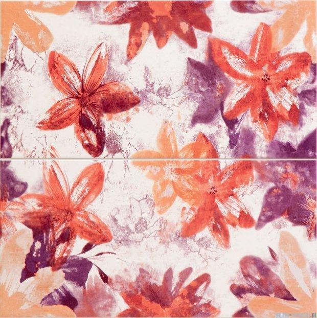 Tubądzin Wave classic dekor ścienny 2-elementowy 44,8x44,8