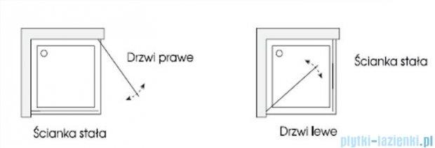 Sea Horse Fresh Line kabina kwadratowa 90x90x195cm przejrzyste/lustro BK259DTSSL