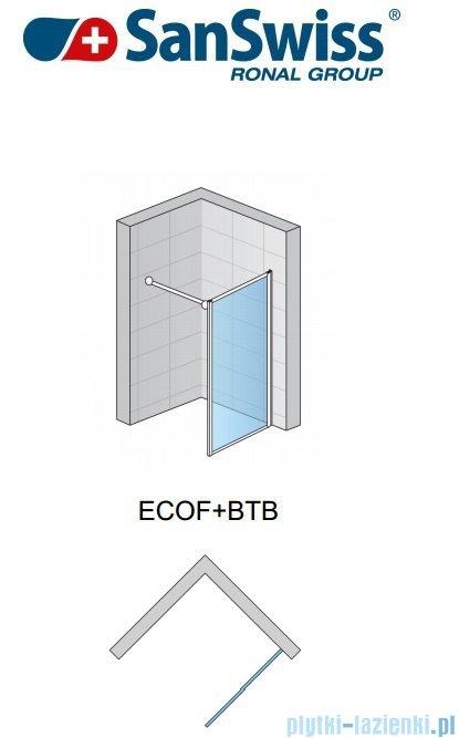 SanSwiss Eco-Line Ścianka boczna Ecof 80cm profil połysk szkło przejrzyste ECOF08005007