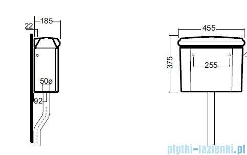 Kerasan Retro spłuczka górnopłuk do kompaktu WC 1080