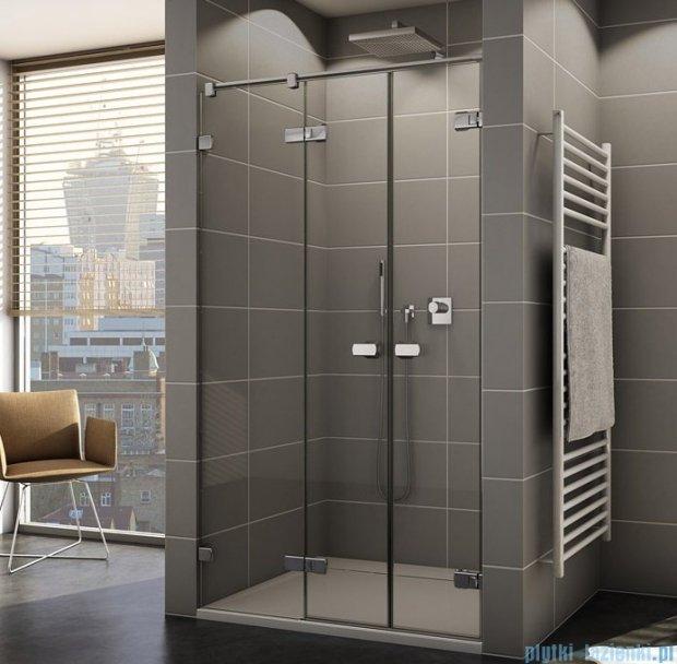 Sanswiss Melia ME32 Drzwi prysznicowe lewe z uchwytami i profilem do 140cm przejrzyste ME32AGSM11007