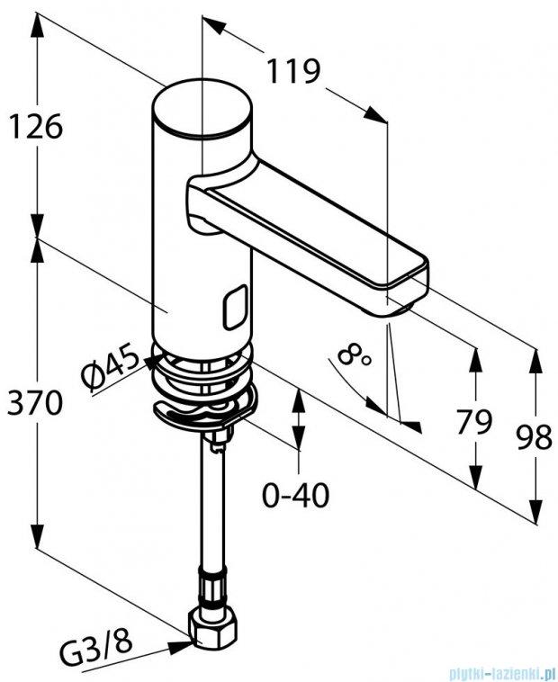 Kludi Zenta Elektroniczny zawór stojący DN15 chrom 3810505