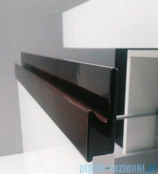 Antado Combi szafka z blatem lewym i umywalką Conti biały/ciemne drewno ALT-140/45GT-WS/dp+ALT-B/4-1000x450x150-WS+UCT-TP-37x59