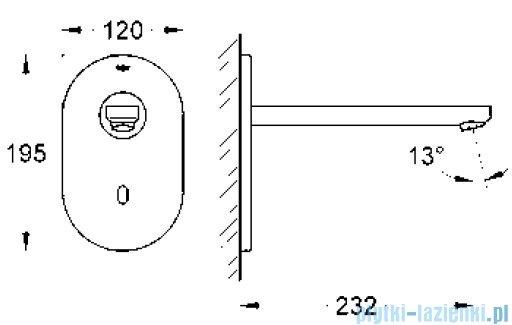 Grohe Eurosmart Cosmopolitan E elektronika do umywalki na podczerwień 36334SD0