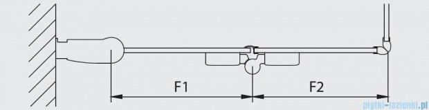 Kermi Diga Wejście narożne,połowa kabiny, lewa, szkło przezroczyste, profile białe 80x200cm DI2CL080202AK