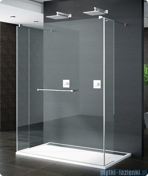 SanSwiss Pur Trio Ścianka stała 90-160cm profil chrom szkło Cieniowanie czarne TRIOSM11055