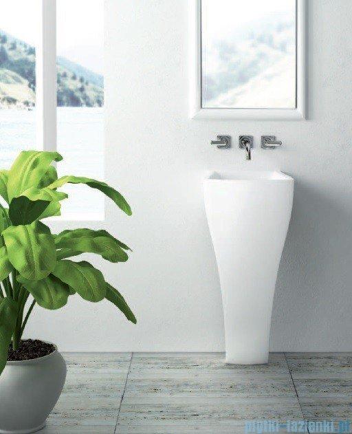 Marmorin umywalka stojąca Wave bez otworu biała 475040020010