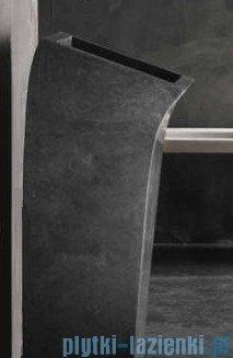 Bathco Lungo Square black umywalka kamienna stojąca 38x43,5cm 00359